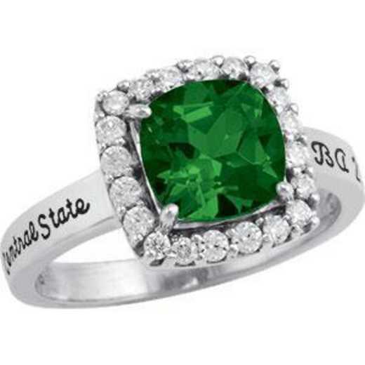 Santa Clara University Women's Embrace Ring with Diamonds