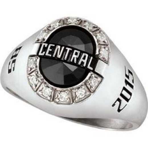 Santa Clara University Women's Enlighten Ring with Diamond