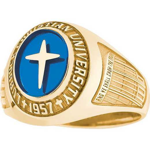 Lubbock Christian University Women's Small Classic with Stone Ring