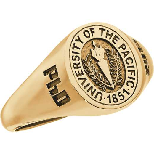 University of The Pacific Women's 4810XS Round Signet Ring