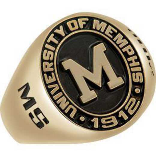 The University of Memphis Men's Signet with Stone Ring