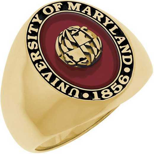 University of Maryland College Park Men's Signet with Stone Ring
