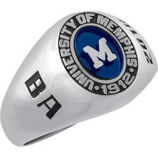 The University of Memphis Women's Small Signet with Stone Ring