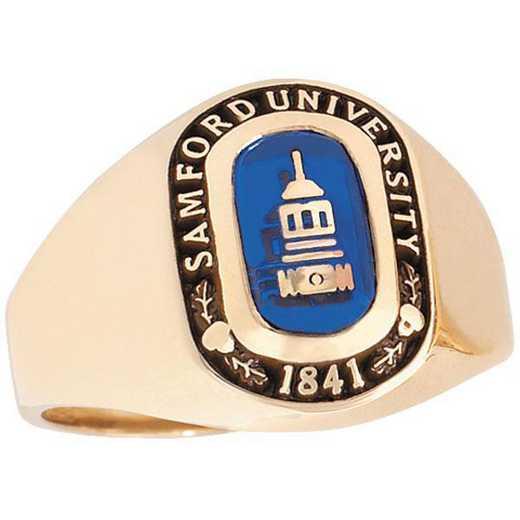 Samford University Women's Small Signet with Stone Ring