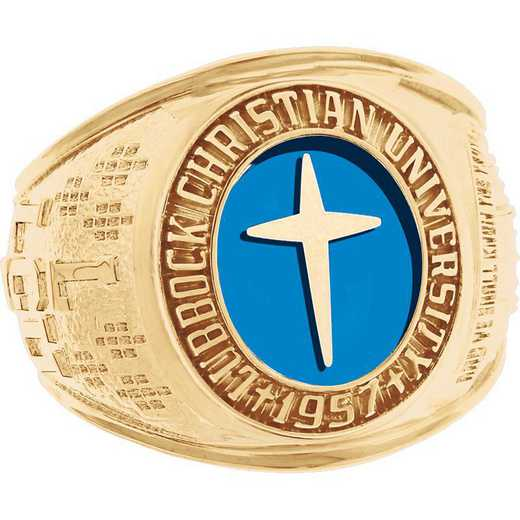 Lubbock Christian University Men's Large Traditional with Stone Ring