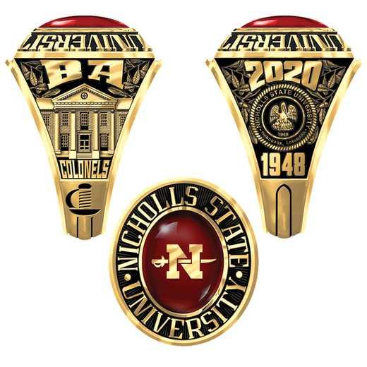 Nicholls State University Men's 4844LH Ring