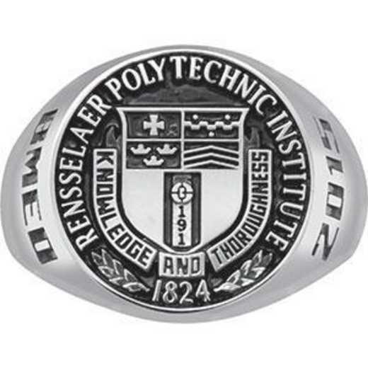 Rensselaer Polytechnic Institute Class of 2015 Men's Round Medallion Signet Ring