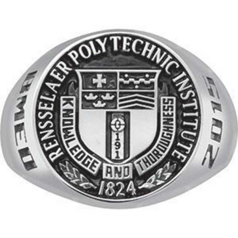 Rensselaer Polytechnic Institute Class of 2015 Men's Round Medallion Signet Ring