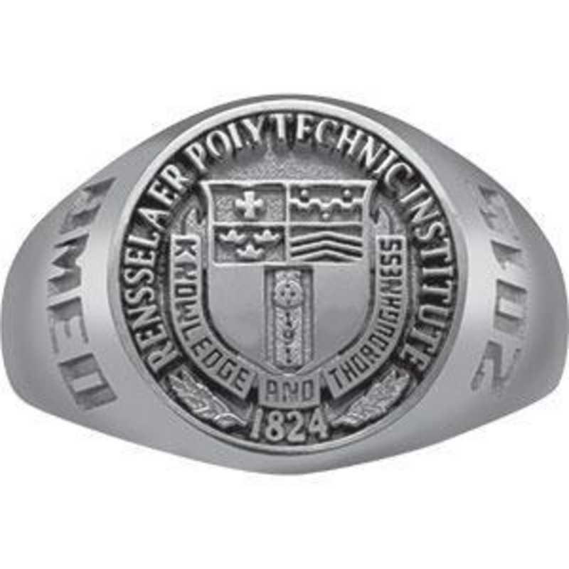 Rensselaer Polytechnic Institute Class of 2015 Women's Round Medallion Signet Ring