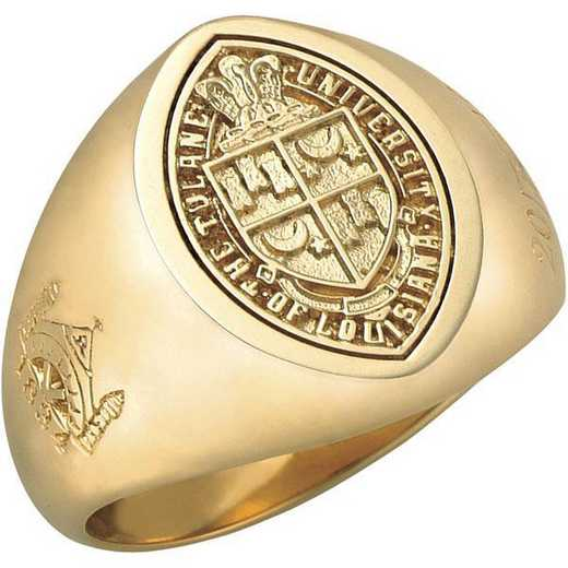 Tulane University New Orleans Men's Signet Ring