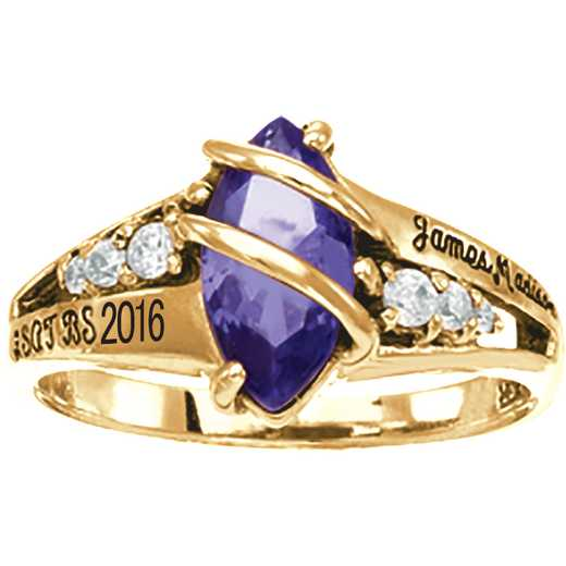 James Madison University Class of 2016 Women's Windswept Ring