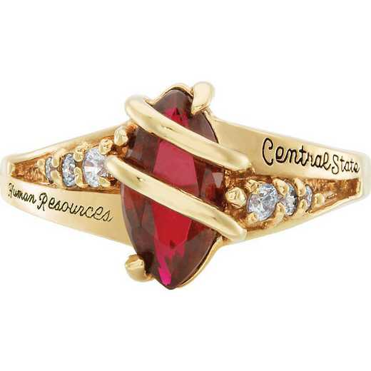 University of California at Riverside Women's Windswept Ring College Ring