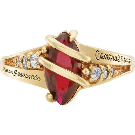 Saint Louis University Latin Women's Windswept Ring