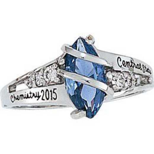 Santa Clara University Women's Windswept Ring with Diamond