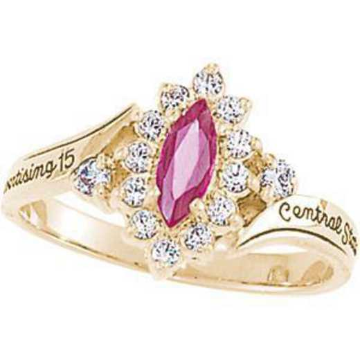 University of California at Riverside Women's Allure Ring College Ring