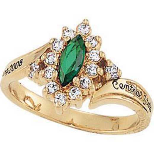 Wright State University Alumni Women's Allure Ring with Cubic Zirconias