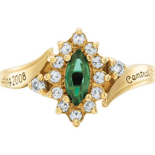University of Vermont Allure Ring with Cubic Zirconias
