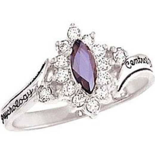 Santa Clara University Women's Allure Ring with Diamonds