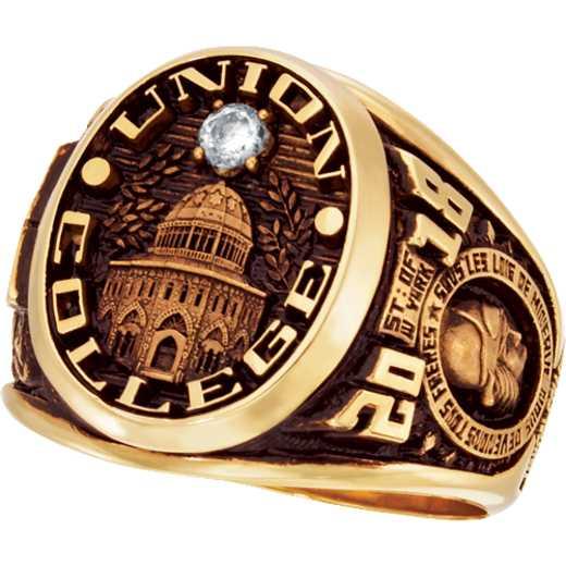 Union College Men's Collegian Ring with Diamond