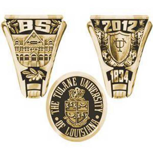 Tulane University Medical School Men's Collegian Ring