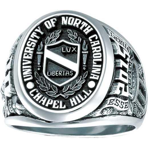 University of North Carolina at Chapel Hill Men's Collegian No Stone All Metal Top Ring