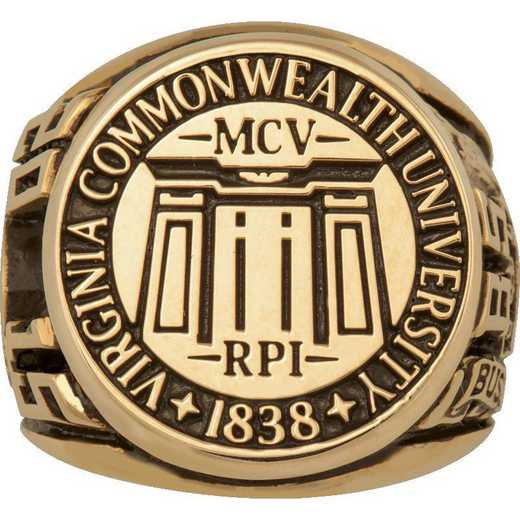 Virginia Commonwealth University Large Scholar with Signet Top Ring