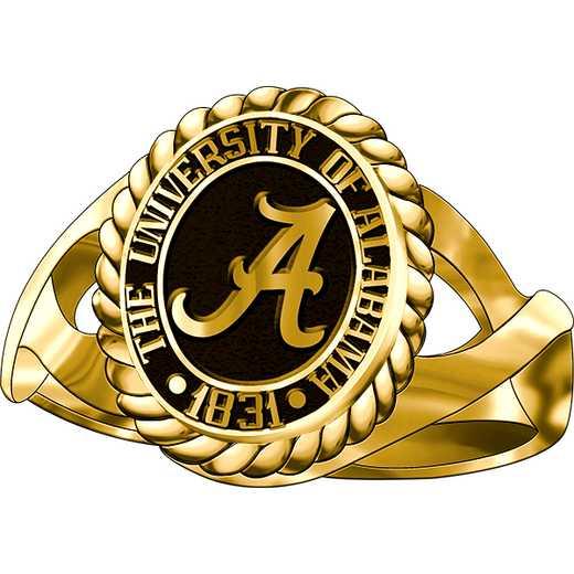 University of Alabama Women's Metal Top Dinner Ring