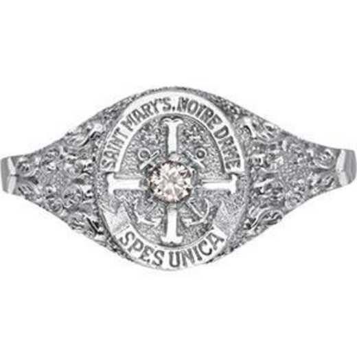 Saint Mary's College Notre Dame Nursing Women's Petite Miniature Signet Ring