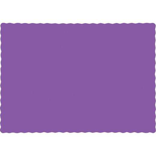 318937: CC Amethyst Purple Placemats - 50 Cnt