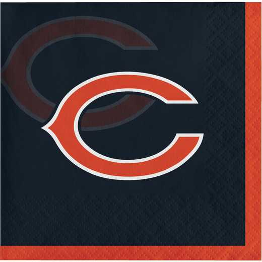DTC659506BNAP: CC Chicago Bears Beverage Napkins