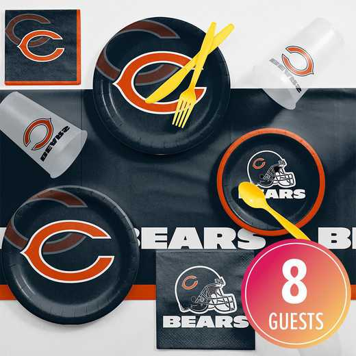 DTC9506C2A: CC Chicago Bears Game Day Party Supplies Kit 8ct