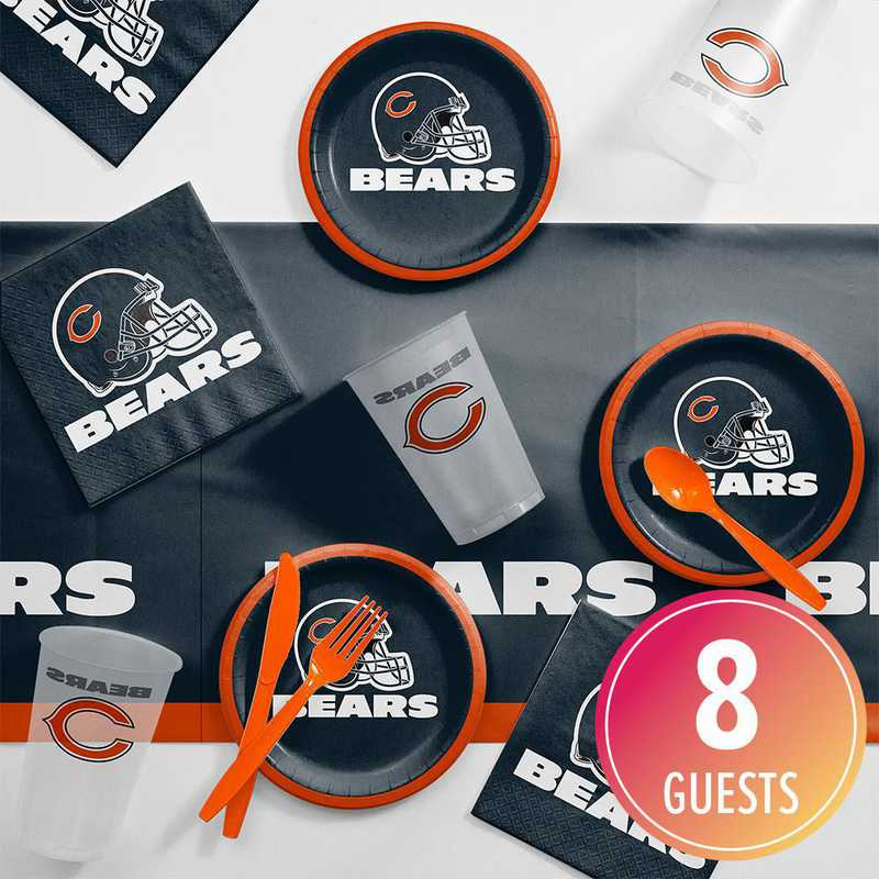 DTC9506C2B: CC Chicago Bears Tailgating Kit 8 ct