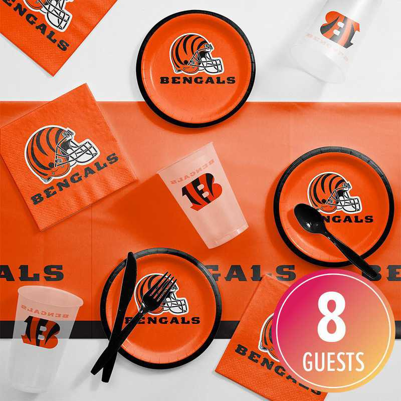 DTC9507C2B: CC Cincinnati Bengals Tailgating Kit 8 ct