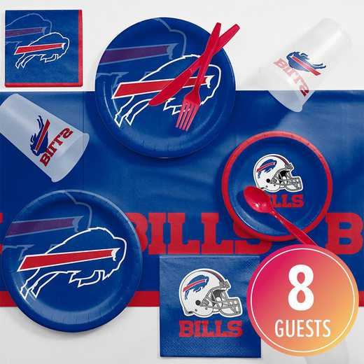 DTC9504C2A: CC Buffalo Bills Game Day Party Supplies Kit 8ct