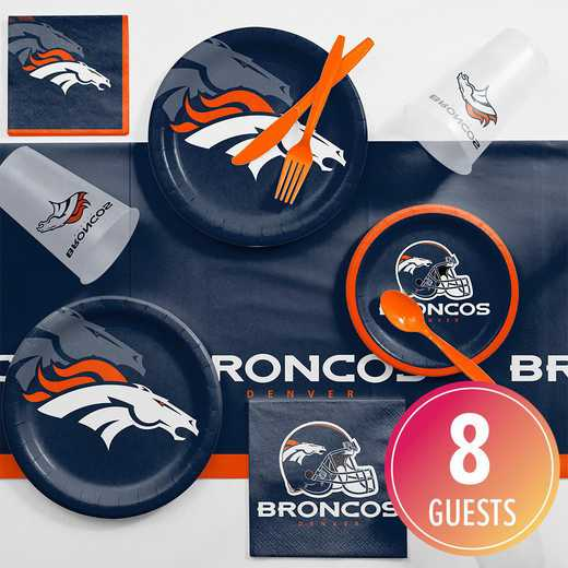 DTC9510C2A: CC Denver Broncos Game Day Party Supplies Kit 8ct