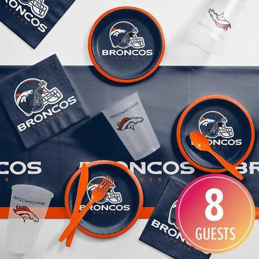 DTC9510C2B: CC Denver Broncos Tailgating Kit 8 ct