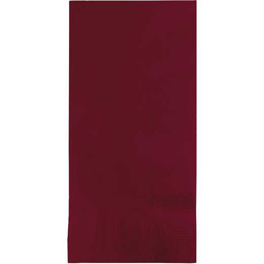 273122: CC Burgundy Red Din Napkins - 100 Cnt