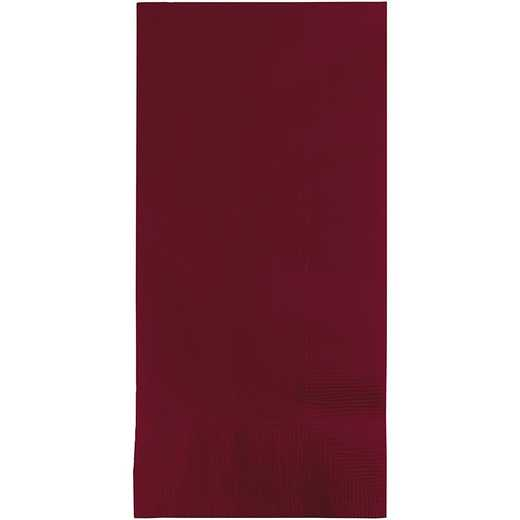 673122B: CC Burgundy Red Din Napkins - 50 Cnt