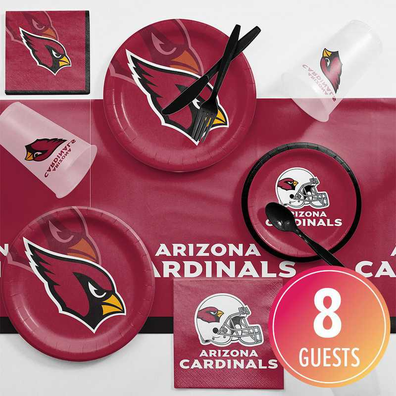 DTC9501C2A: CC Arizona Cardinals Game Day Party Supplies Kit 8ct