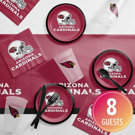 DTC9501C2B: CC Arizona Cardinals Tailgating Kit 8 Count 8 ct
