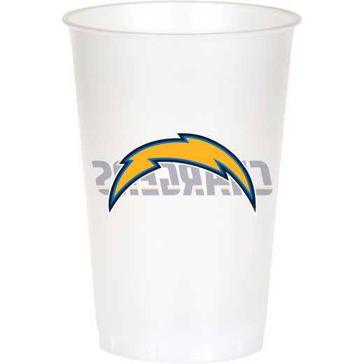 DTC019526TUMB: CC Los Angeles Chargers Plastic Cups