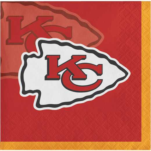 DTC659516BNAP: CC Kansas City Chiefs Beverage Napkins