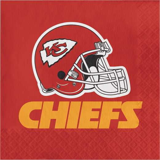 DTC669516NAP: CC Kansas City Chiefs Napkins