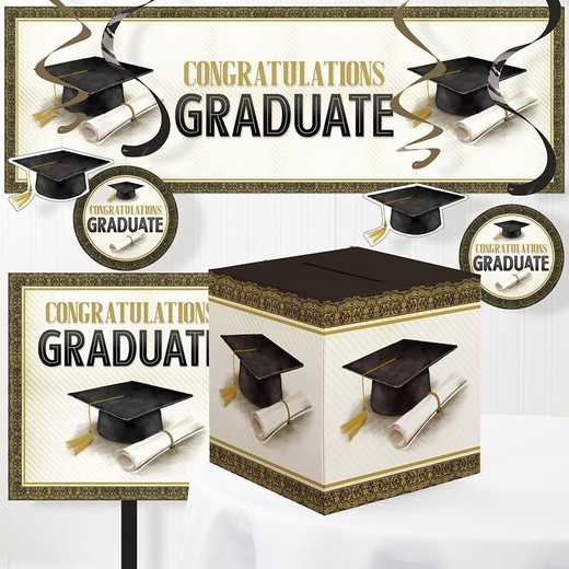 DTC3879E1A: CC Classic Graduation Decorations Kit