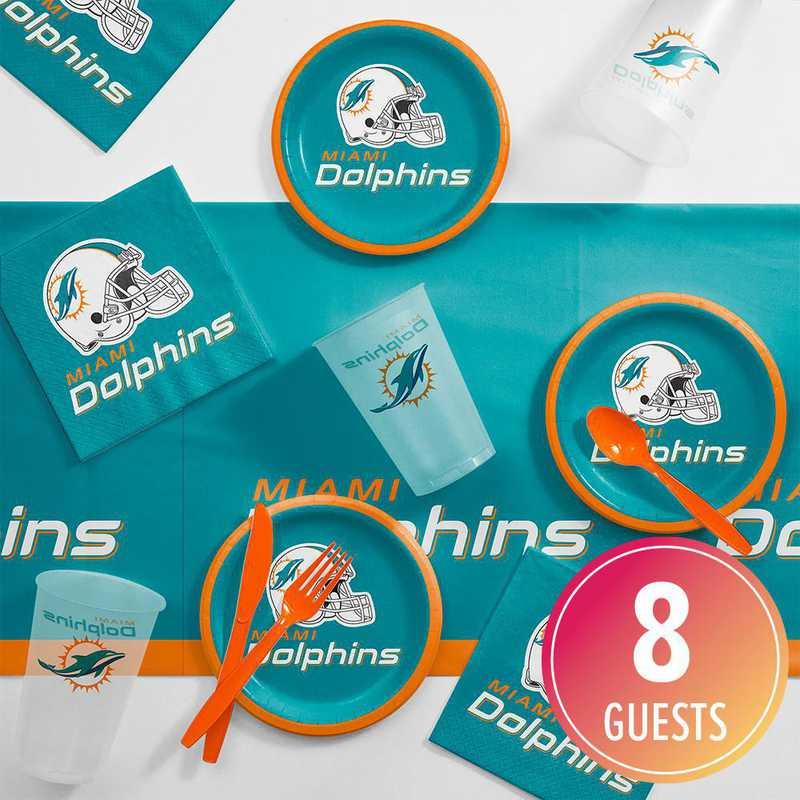 DTC9517C2B: CC Miami Dolphins Tailgating Kit 8 ct