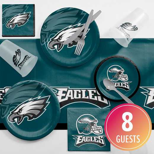 DTC9524C2A: CC Philadelphia Eagles Game Day Party Supplies Kit 8ct