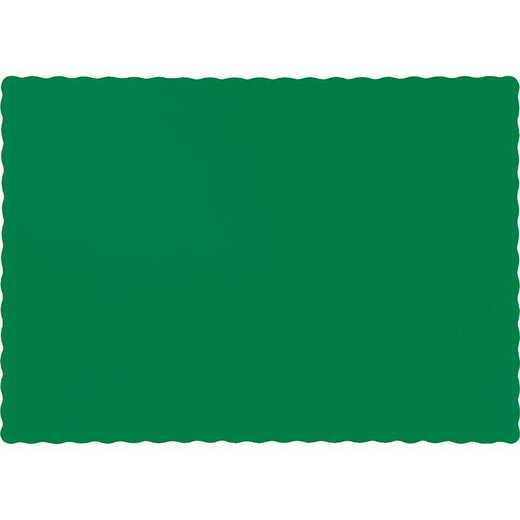 863261B: CC Emerald Green Placemats - 50 Cnt