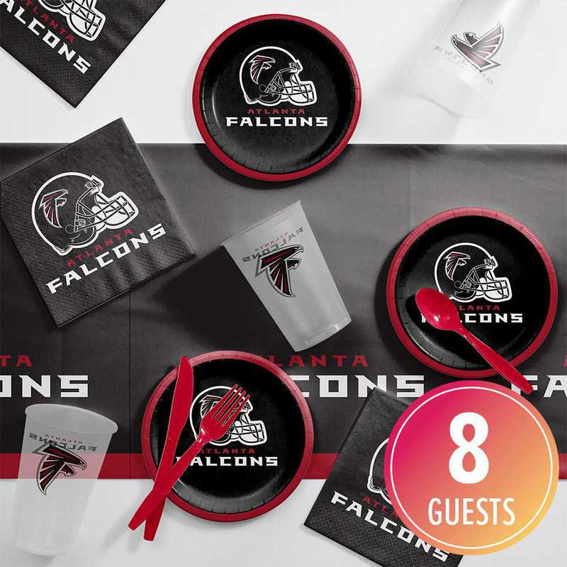 DTC9502C2B: CC Atlanta Falcons Tailgating Kit 8 ct