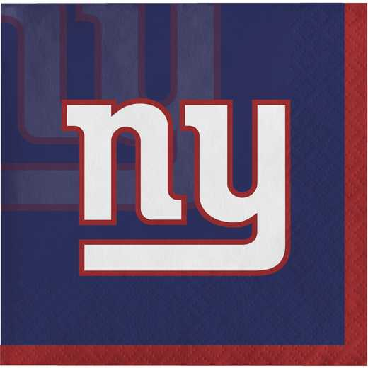 DTC659521BNAP: CC New York Giants Beverage Napkins