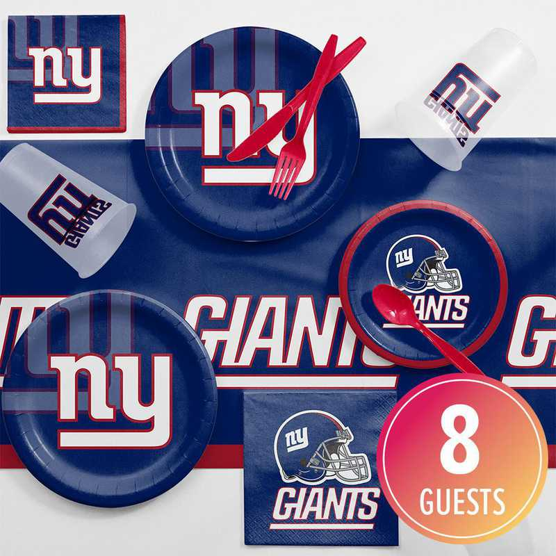 DTC9521C2A: CC New York Giants Game Day Party Supplies Kit 8ct